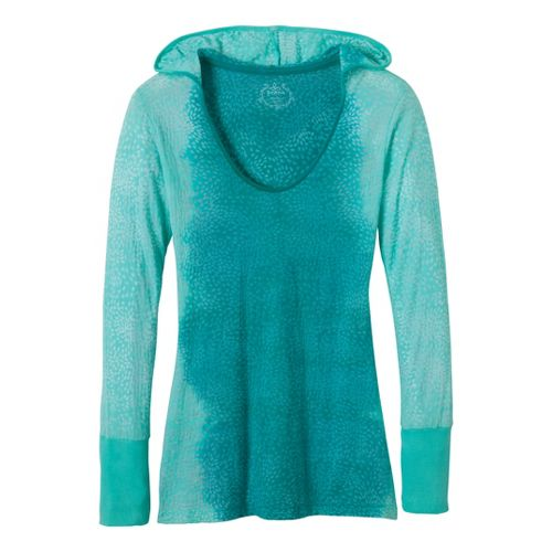 Womens Prana Julz Hoodie Technical Tops - Dragonfly L