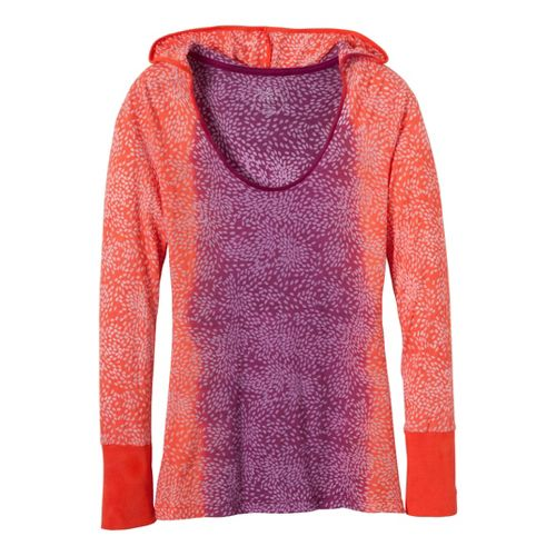 Womens Prana Julz Hoodie Technical Tops - Fuchsia XS