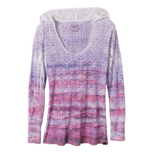 Womens Prana Julz Hoodie Technical Tops - Red Violet M