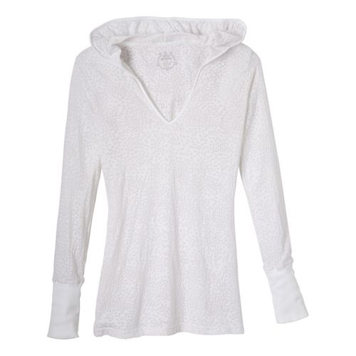 Womens Prana Julz Hoodie Technical Tops - White L