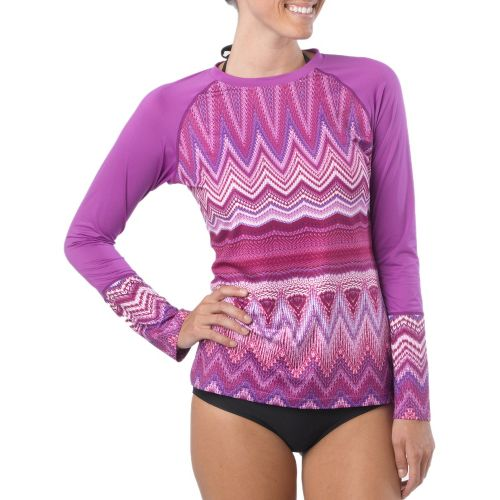 Womens Prana Rory Sun Long Sleeve No Zip Technical Tops - Summer Plum S