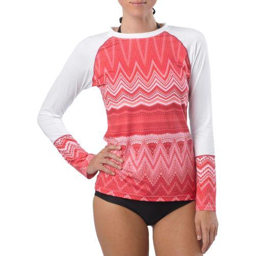 Womens Prana Rory Sun Long Sleeve No Zip Technical Tops - White S
