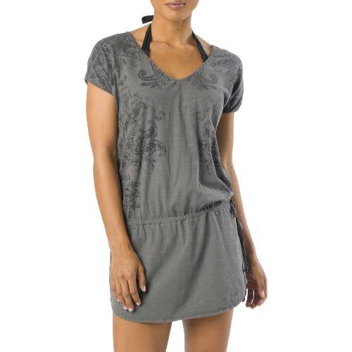 Womens Prana Ava Cover Up Short Sleeve Non-Technical Tops - Coal XL