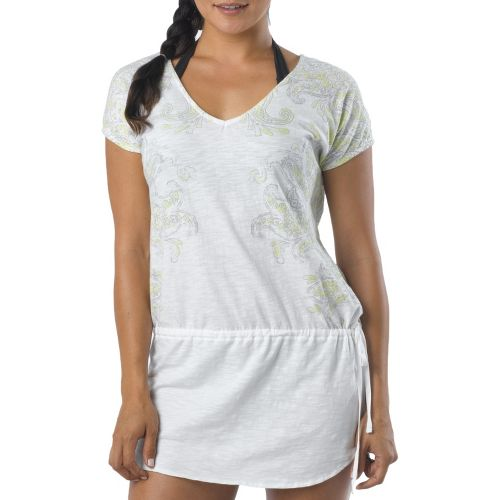 Womens Prana Ava Cover Up Short Sleeve Non-Technical Tops - White L