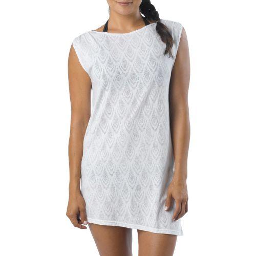 Womens Prana Colette Cover Up Sleeveless Technical Tops - White S