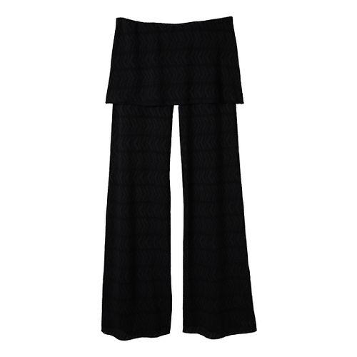 Womens Prana Satori Mesh Full Length Pants - Black L
