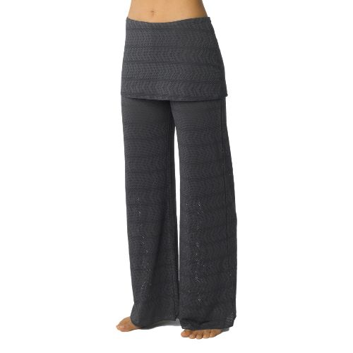 Womens Prana Satori Mesh Full Length Pants - Coal L