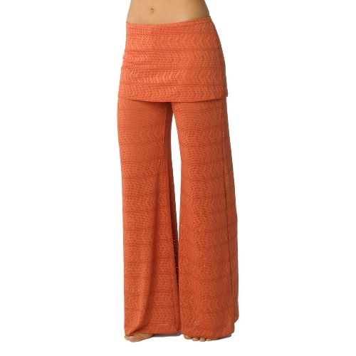 Womens Prana Satori Mesh Full Length Pants - Indian Red XS