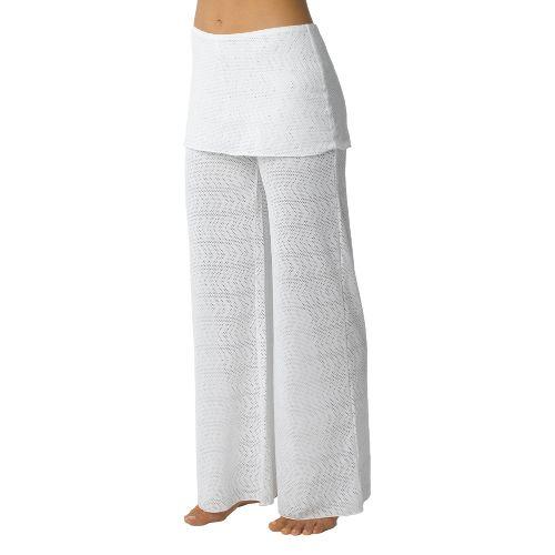 Womens Prana Satori Mesh Full Length Pants - White XS