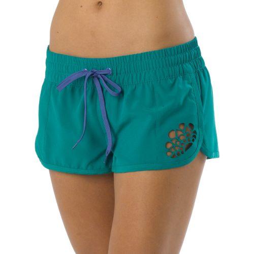 Womens Prana Brie Boardshort Splits Shorts - Dragonfly L