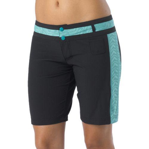 Womens Prana Bettina Board Unlined Shorts - Black XL