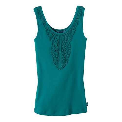 Womens Prana Alba Tanks Non-Technical Tops - Sea Green M