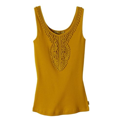 Womens Prana Alba Tanks Non-Technical Tops - Marigold XL