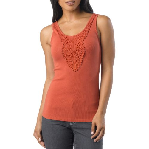 Womens Prana Alba Tanks Non-Technical Tops - Indian Red XS