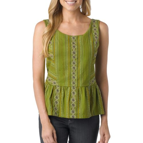 Womens Prana Selma Tanks Non-Technical Tops - Spinach M