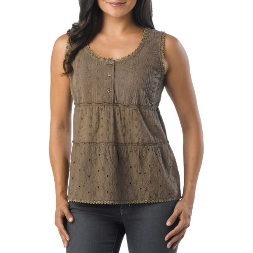 Womens Prana Kendall Tanks Non-Technical Tops - Mud XS