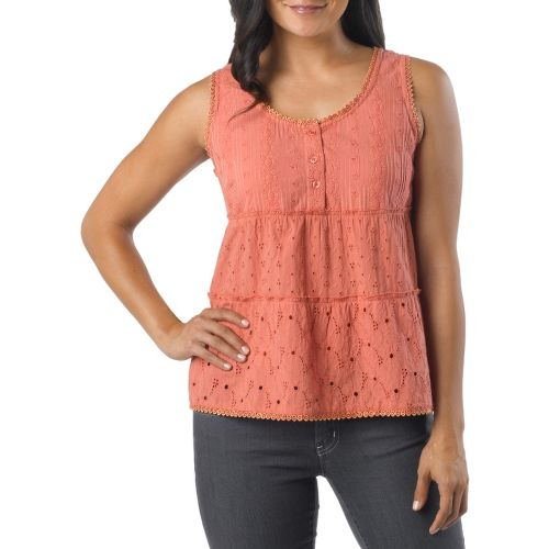 Womens Prana Kendall Tanks Non-Technical Tops - Rhubarb L