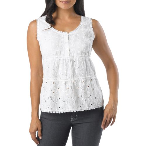 Womens Prana Kendall Tanks Non-Technical Tops - White XS