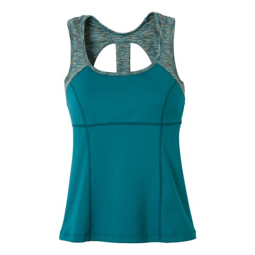 Womens Prana Marla Tanks Technical Tops - Teal XL