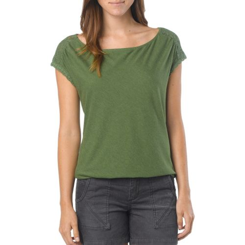 Womens Prana Bree Sleeveless Non-Technical Tops - Deep Jade XS