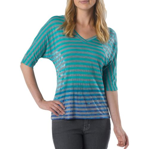 Womens Prana Adrienne Long Sleeve Non-Technical Tops - Dragonfly S