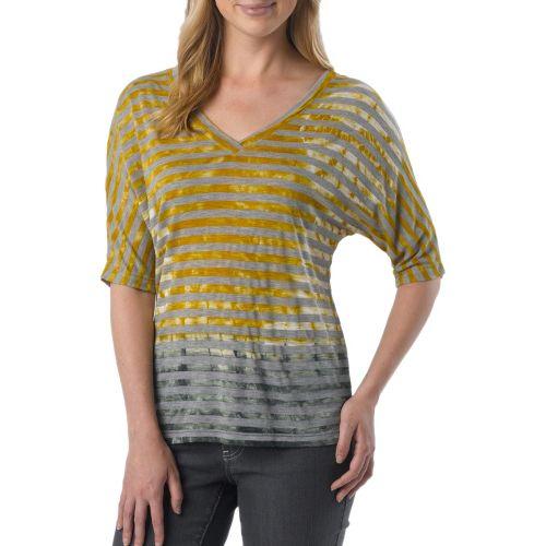 Womens Prana Adrienne Long Sleeve Non-Technical Tops - Lemon XL