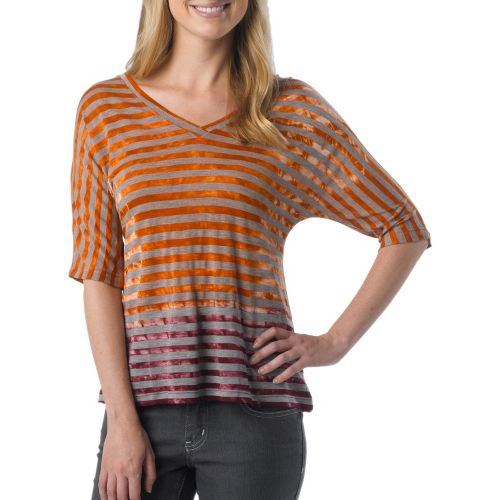 Womens Prana Adrienne Long Sleeve Non-Technical Tops - Pumpkin S