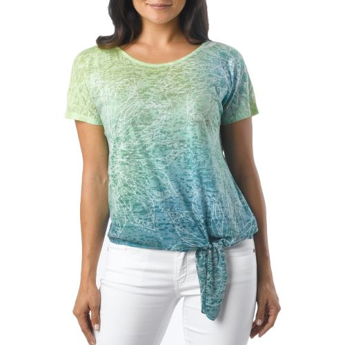 Womens Prana Flora Short Sleeve Non-Technical Tops - Dragonfly S