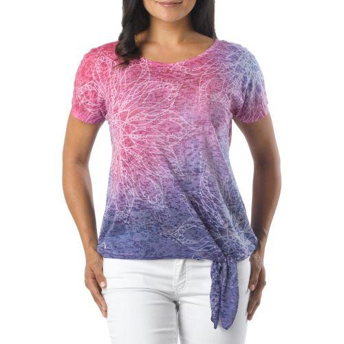 Womens Prana Flora Short Sleeve Non-Technical Tops - Sail Blue L