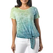 Womens Prana Flora Short Sleeve Non-Technical Tops