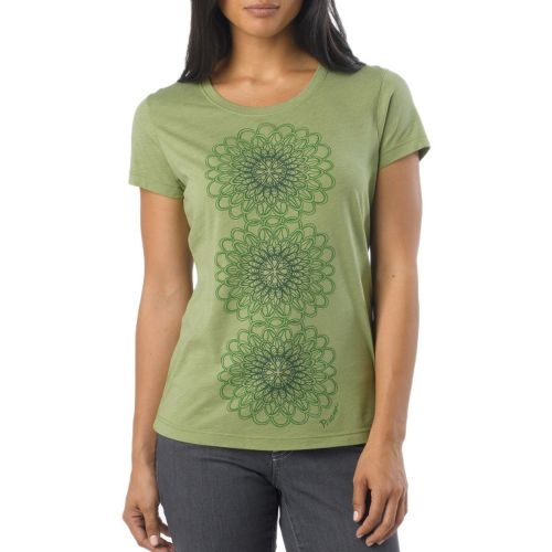 Womens Prana Gallery Tee Short Sleeve Technical Tops - Spinach XS
