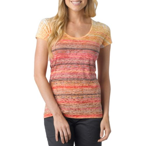 Womens Prana Ribbon Tee Short Sleeve Technical Tops - Candycorn S