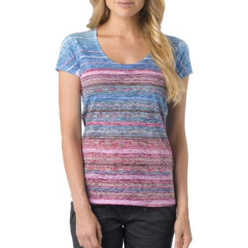 Womens Prana Ribbon Tee Short Sleeve Technical Tops - Dewberry S