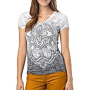 Womens Prana Chai V Neck Tee Short Sleeve Technical Tops
