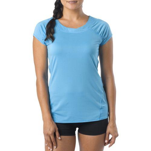 Womens Prana Cheri Top Short Sleeve Technical Tops - Azure L