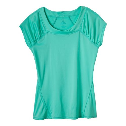 Womens Prana Cheri Top Short Sleeve Technical Tops - Bermuda M