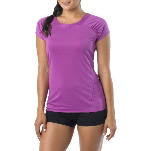 Womens Prana Cheri Top Short Sleeve Technical Tops - Summer Plum L