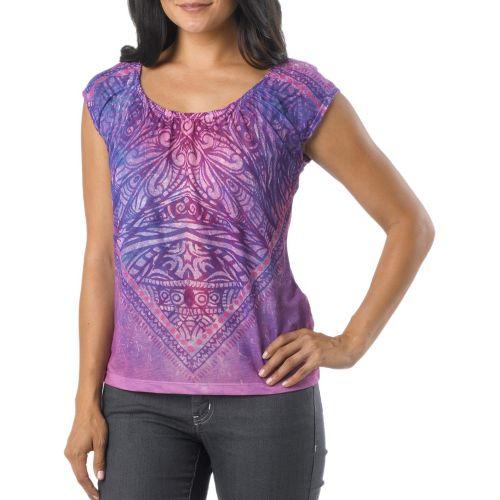 Womens Prana Kylie Sleeveless Non-Technical Tops - Dark Grape L