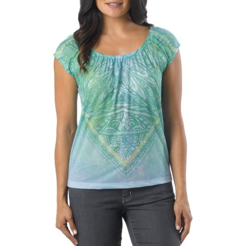 Womens Prana Kylie Sleeveless Non-Technical Tops - Deep Cyan XL