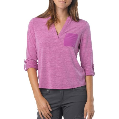 Womens Prana Ashlyn Long Sleeve Non-Technical Tops - Summer Plum M