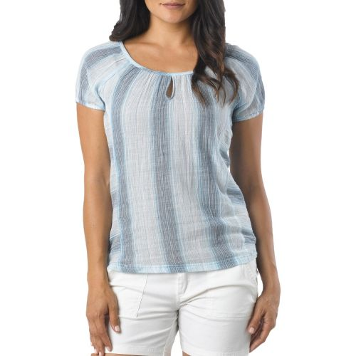 Womens Prana Whitney Short Sleeve Non-Technical Tops - Niagara M