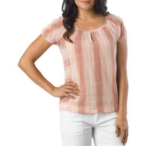 Womens Prana Whitney Short Sleeve Non-Technical Tops - Pumpkin M