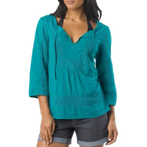 Womens Prana Sofie Long Sleeve Non-Technical Tops - Dragonfly M