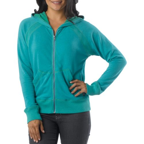Womens Prana Miranda Hoodie Warm-Up Hooded Jackets - Baja Blue XS