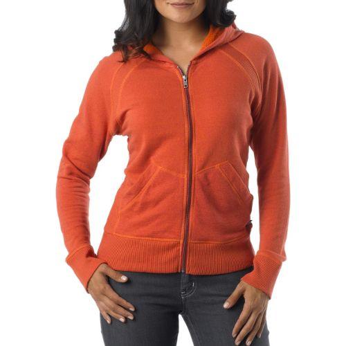 Womens Prana Miranda Hoodie Warm-Up Hooded Jackets - Dusty Rose L