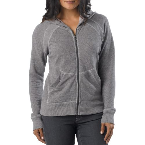 Womens Prana Miranda Hoodie Warm-Up Hooded Jackets - Gravel XL