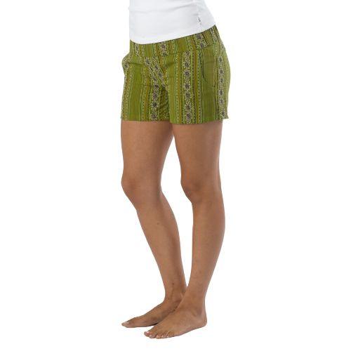 Womens Prana Reba Unlined Shorts - Spinach S
