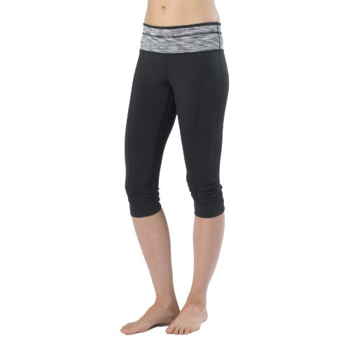 Womens Prana Alyson Knicker Capri Pants - Black M