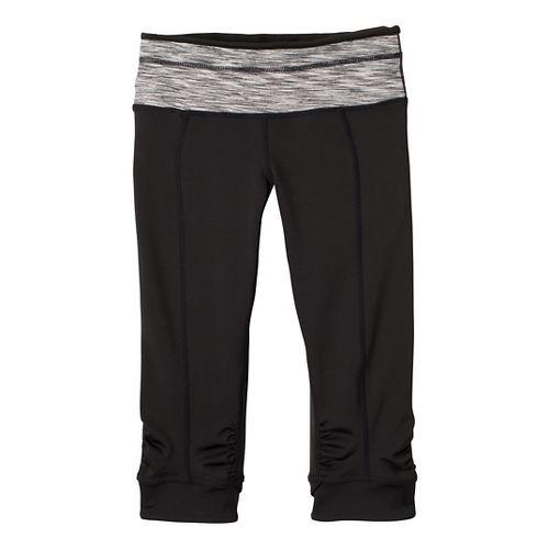 Womens Prana Alyson Knicker Capri Pants - Black Stripe XS