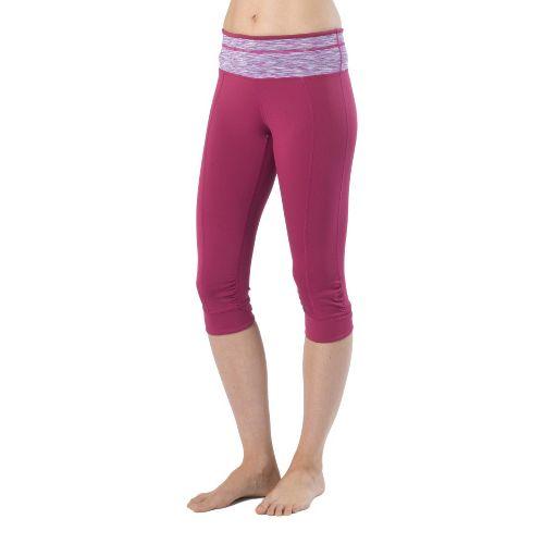 Womens Prana Alyson Knicker Capri Pants - Boysenberry XS